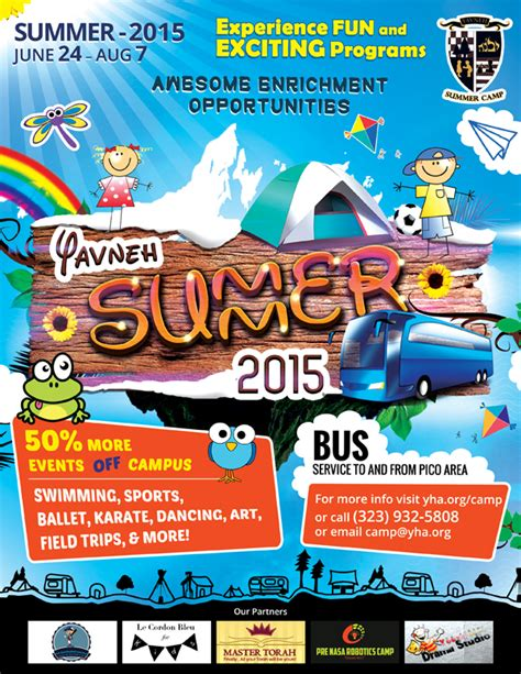 yavneh summer c flyer design on behance