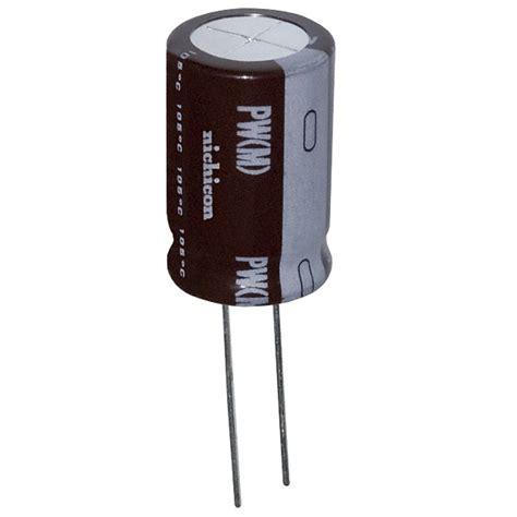 nichicon capacitors pw upw2a331mhd nichicon capacitors digikey