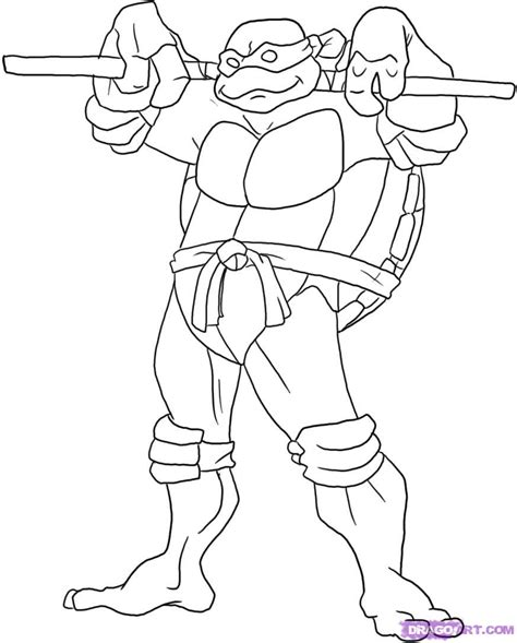 Turtles Michelangelo Coloring Pages free coloring pages of tmnt leo step