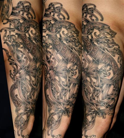 norse tattoo pinterest viking art leg 1 by darksuntattoo deviantart com on