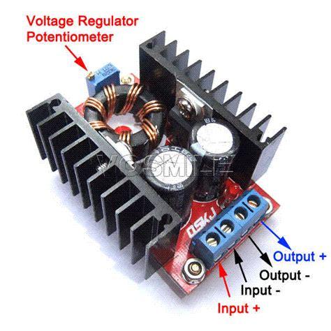 Dc Boost Converter Step Up 150w 6a Penaik Tegangan Volt Dc 150w dc dc boost converter 10 32v to 12 35v 6a voltage step up module td