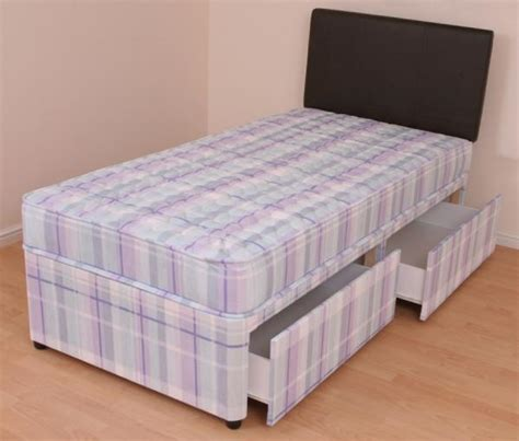Beds With Mattress Included by Single Divan Bed 3ft Orthopaedic Mattress Slide