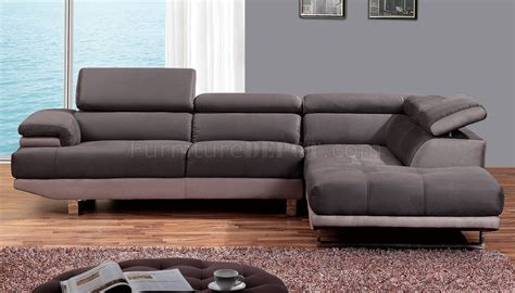 1332 sectional sofa in grey fabric by at home usa