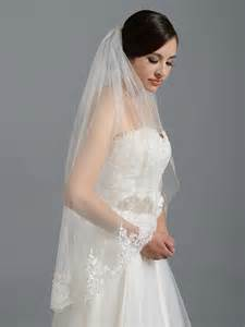 wedding veils ivory alencon lace wedding veil v037n