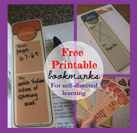 printable bookmark planner free planning bookmarks free homeschool deals