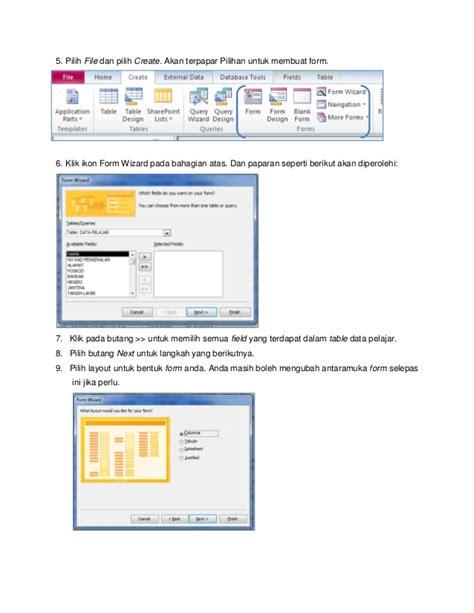 membuat database lengkap lengkap microsoft access langkah demi langkah