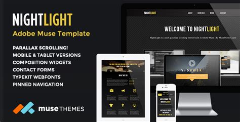 Adobe Muse Mobile Templates 30 best responsive adobe muse themes 2014 psdreview