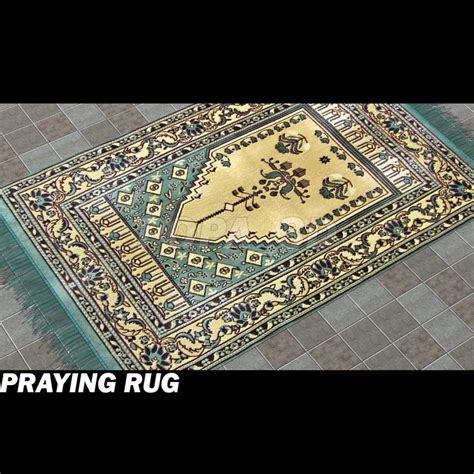 rug rates definition 3d model islamic pray carpet