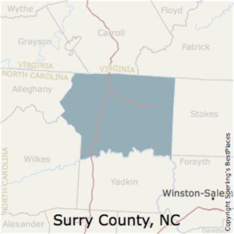 best places to live in surry county carolina