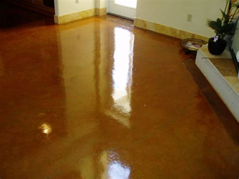 refinishing or damaged acid stained cement floors