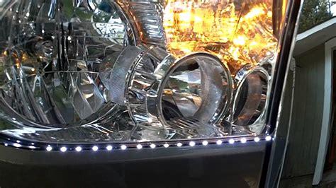 Tundra Headlight Led Strip Install Youtube How To Install Led Light Strips In Car