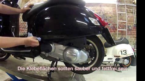 Vespa S Aufkleber by Vespa Gts Gtv Aufkleber Montageanleitung How To Put
