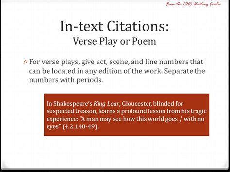 How Do You Mention A Poem In An Essay by Mla Citation Plays Shakespeare
