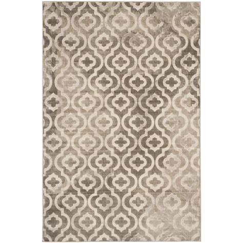 Safavieh Porcello Rug Safavieh Porcello Grey Ivory 6 Ft X 9 Ft Area Rug Prl7734e 6 The Home Depot