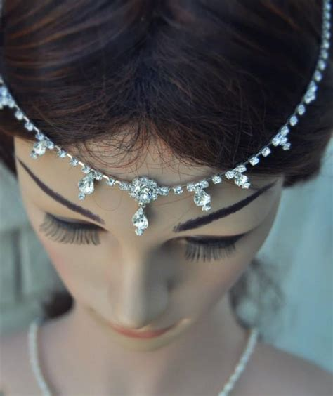 Wedding Hair Accessories India by Wedding Tikka Headpiece Indian Inspired Jewelry