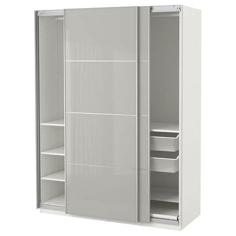 ikea schrank pax planer pax wardrobe white hokksund high gloss light grey
