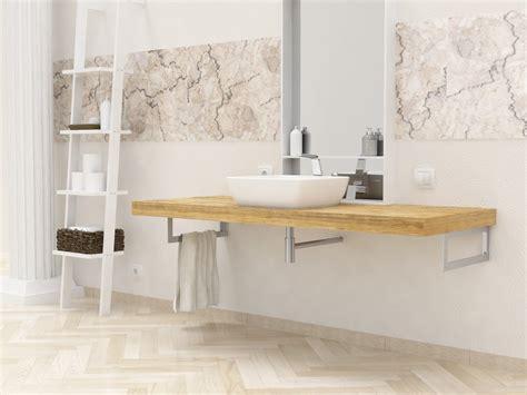mensole per bagno in legno mensola lavabo in legno massello su misura spessore 5 cm