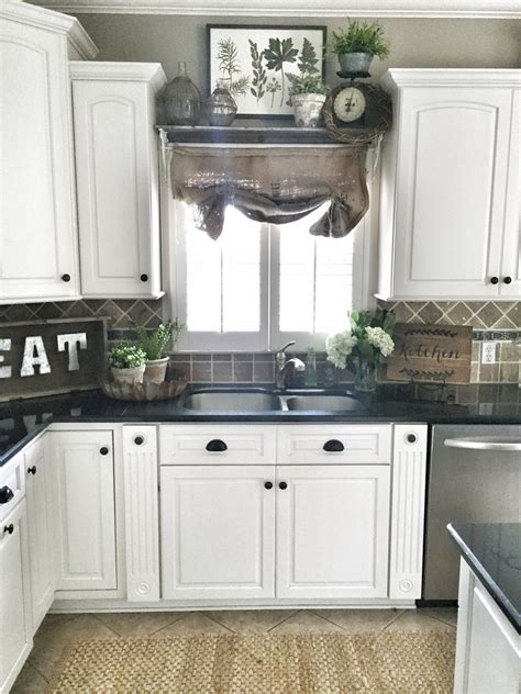 Kitchen Decorating Ideas Pinterest | farmhouse kitchen decor shelf over sink in kitchen diy