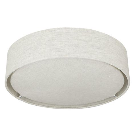 Buy John Lewis Samantha Linen Flush Ceiling Light John Lewis Lewis Flush Ceiling Lights