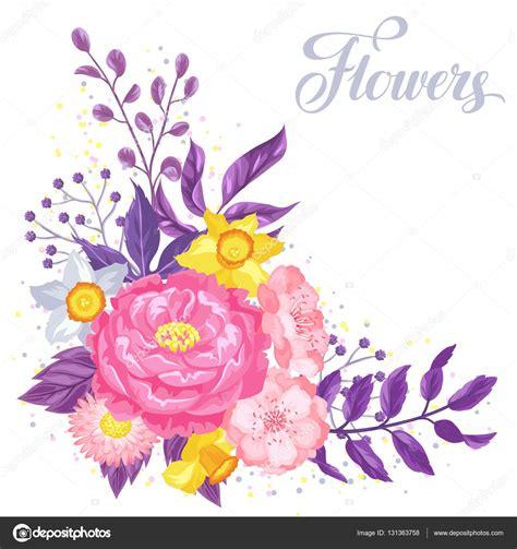 imagenes de flores para invitaciones tarjeta de invitaci 243 n con delicadas flores decorativas