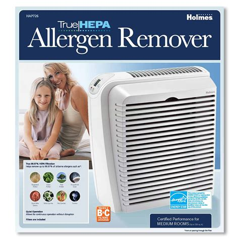 allergen remover air purifier console with true hepa air filter white hap726 nu 1