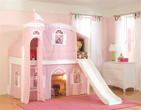 Treat Your Little Queen With Princess Bunk Bed With Slide Princess Bed With Slide