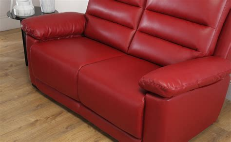 red leather settee milan red leather sofa sofas couch settee ebay
