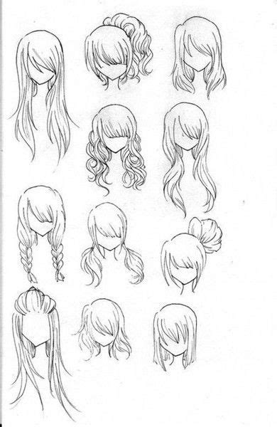 Cute Easy Hairstyles To Draw | draw realistic hair how to draw girls drawing hair and