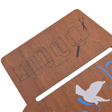wooden envelope template wood stencil diy airmail craft