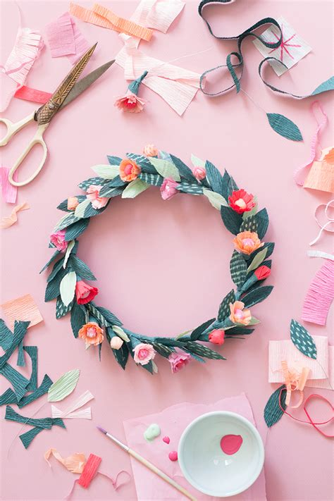 How To Make A Flower Crown Out Of Paper - diy paper floral crown the house that lars built