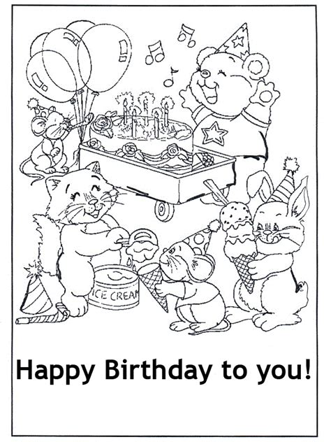 coloring pages for happy birthday free printable happy birthday coloring pages for