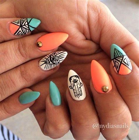 orange pattern nails 25 grands dessins ongles tribaux pour 2016 cheveux coiffure