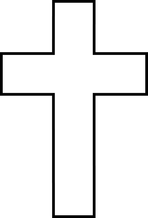 Cross Outline by Cross Clipart Cross Clipart
