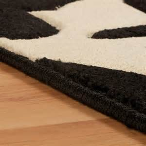 Orange Shaggy Rug Nina Regina Black Cream Rug From Rugshop Uk