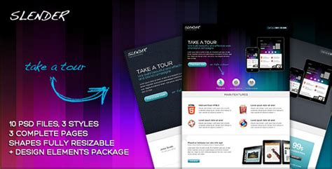 Slender Take A Tour Micro Site Psd Template By Ansonika Themeforest Microsite Template
