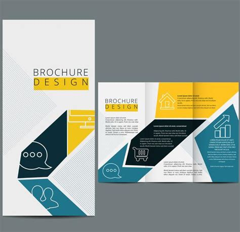 three fold brochure template vector design web design