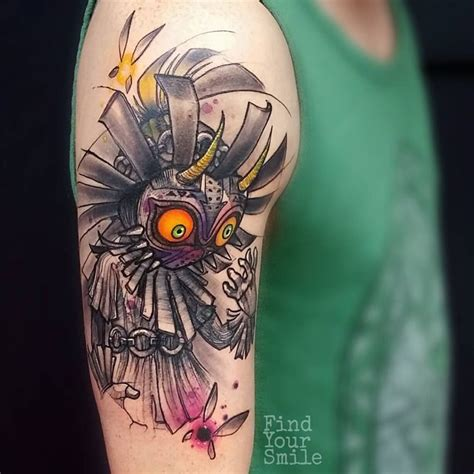 skull kid tattoo 1000 ideas about on legend of