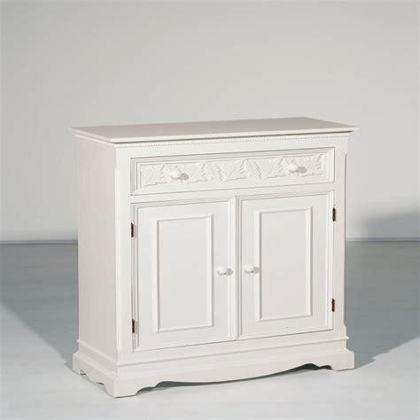 meuble d 233 coratif 2 portes et un tiroir en bois blanc