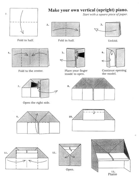 how to make origami piano 303 best images about history on