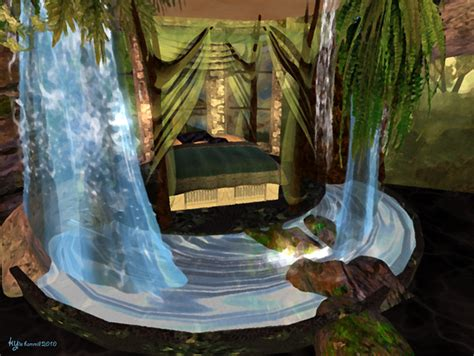Bedroom Waterfall by Serenity Falls Treehouse Bedroom Waterfall 2 By Kyri