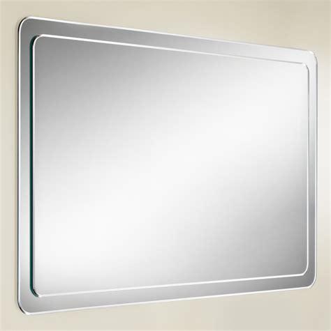 rounded corner bathroom mirror hib abbi bevelled mirror on mirror with rounded corners 76600000