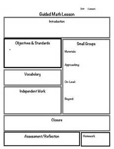 guided math lesson plan template math math lessons and lesson plans on