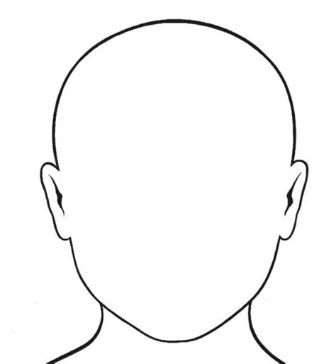 templates for drawing faces blank human face template clipart best