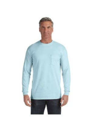 comfort colors long sleeve pocket t shirts comfort colors c4410 long sleeve pocket t shirt 9 00