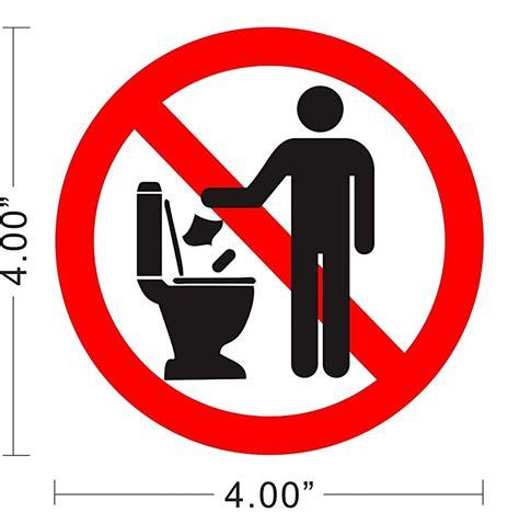 Sticker Toilet Closet Stiker Toilet Water Flush Jm901 restroom toilet caution notice warning store
