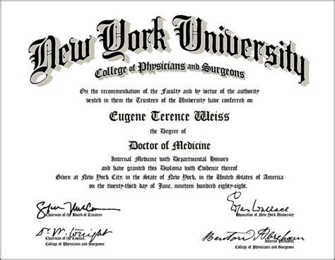 Nyu Mba Program Courses by Diploma Diploma Nyu
