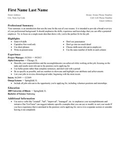 Free Professional Resume Templates Livecareer Value Based Resume Template