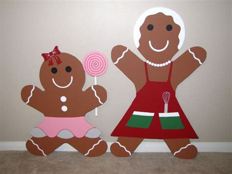 How To Make A Gingerbread Out Of Paper - gingerbread yard decoration updated 7