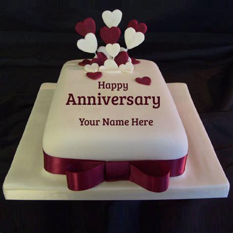 wedding anniversary cake with name happy anniversary ruby wedding cake with your name