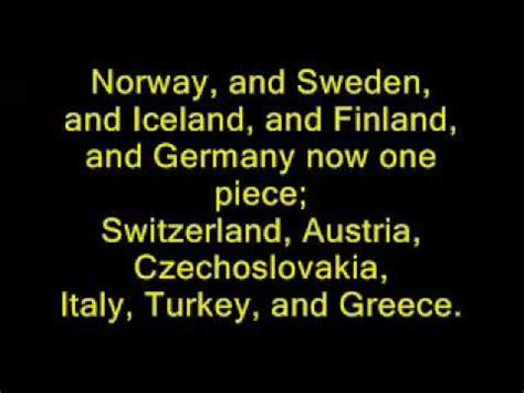 flags of the world lyrics yakko s nations of the world lyrics youtube
